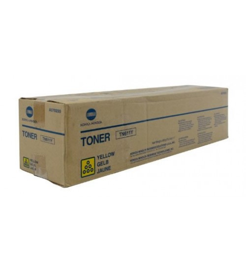 Konica Minolta TN-611Y Toner Cartridge - Yellow